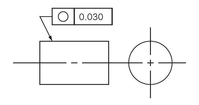 Circularity drawing callout