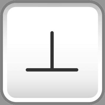 GD&T perpendicularity symbol